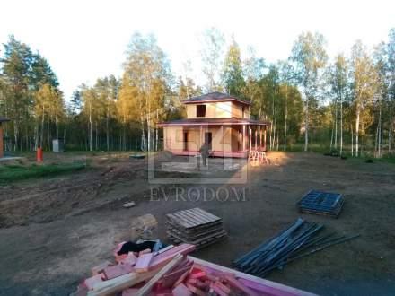 Строительство дома  и бани из СИП панелей по индивидуальному проекту, в СНТ « Защита» Ленинградской области.