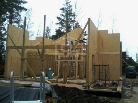 Монтаж домокомплекта дома из СИП панелей