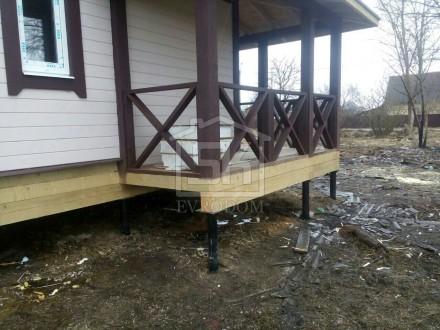 Монтаж ограждения террасы из сухой строганной доски