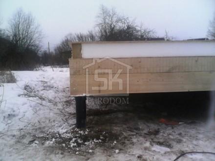 Монтаж цокольных панелей СИП дома