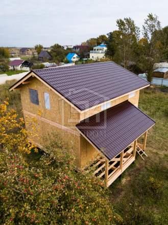 Строительство дома из СИП панелей по индивидуальному проекту в Коммолово Ленинградской области.