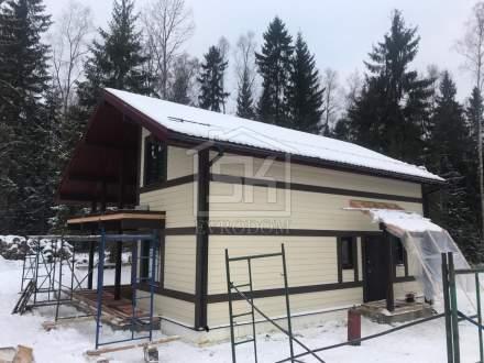Строительство дома из СИП панелей по индивидуальному проекту в Мини Лахти Ленинградской области.