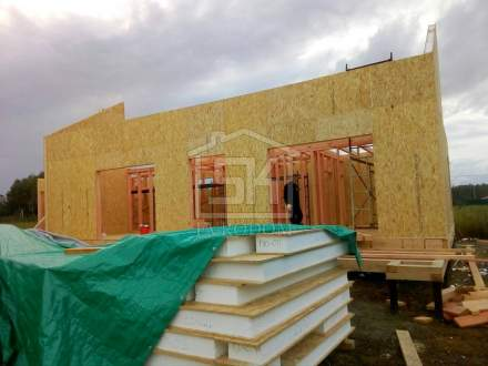 Строительство дома из СИП панелей по индивидуальному проекту в п. Вуокса Ленинградской области.