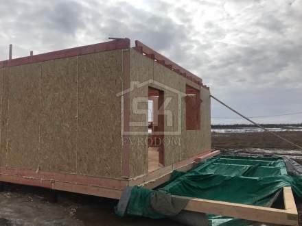 Строительство дома из СИП панелей по типовому проект «Мерлен» ЖСК Агрополис