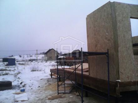 Монтаж стен из СИП панелей первый этаж