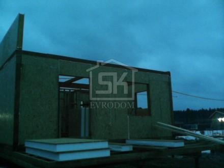 Монтаж стен из СИП панелей второго этаж