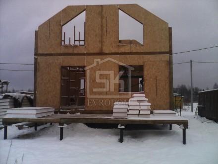 Строительство дома из СИП панелей по типовому проекту Клио во Всеволожском районе  д.Кискелево.