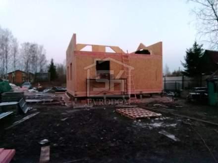 Строительство дома из СИП панелей по типовому проекту «Мерлен», в СНТ Красногорское.