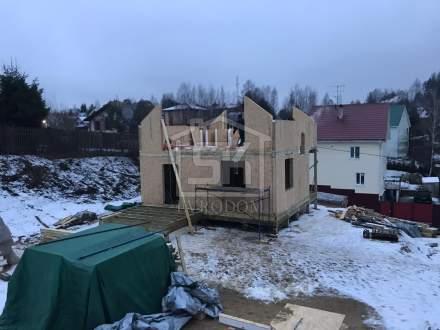 Строительство дома из СИП панелей по типовому проекту «НИКОЛЬ», в д. Порошкино