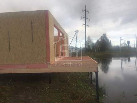 Строительство дома из СИП панелей в д. Санино, по индивидуальному проекту.