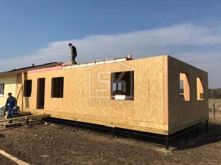 Строительство дома из СИП панелей в д. Тосно