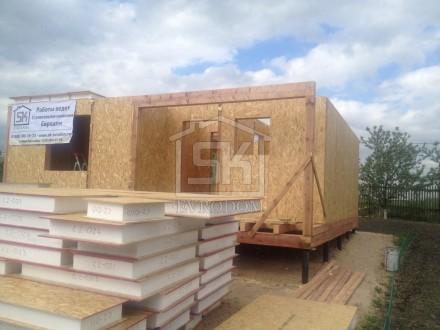 Строительство дома из СИП панелей в г. Никольское Лен. обл. по индивидуальному проекту