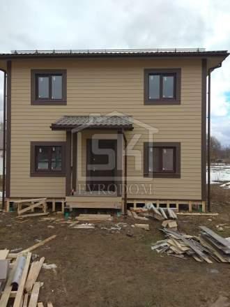 Строительство дома из СИП панелей в КП « Кружева» Московской области, по индивидуальному проекту.