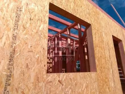 Строительство дома из СИП панелей в «КП Кружева» Московской области, по индивидуальному проекту.