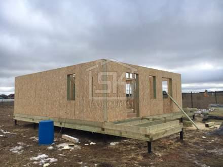 Строительство дома из СИП панелей в п. Рыбицы Ленинградской области