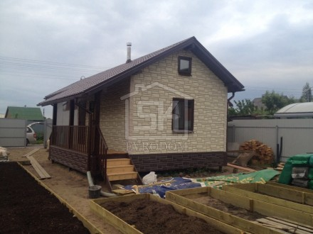 Строительство дома из СИП панелей в п. Александровская г. Санкт-Петербурга по индивидуальному проекту