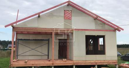 Строительство дома из СИП панелей в СНТ Трудовик