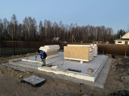 Строительство дома из СИП панелей в СНТ Тюльпан