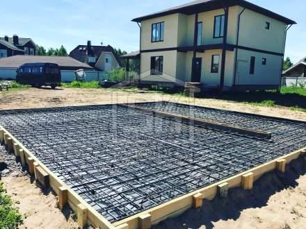 Строительство гаража из СИП панелей в КП Вайя Ленинградской области.