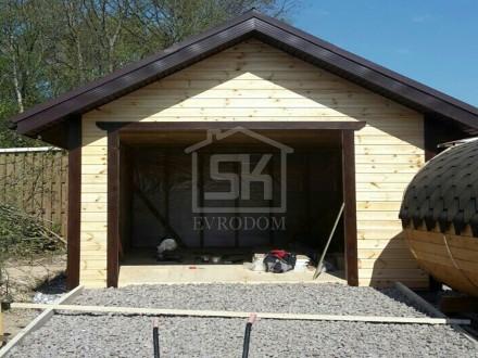 """Строительство гаража в коттеджном посёлке """" Морская крепость""""."""