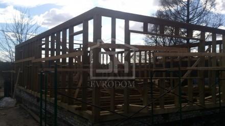 Строительство каркасного дома по индивидуальному проекту в Ленинградской обл.