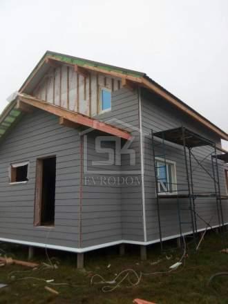 Строительство каркасного дома по индивидуальному проекту в п. Сосново Ленинградской области
