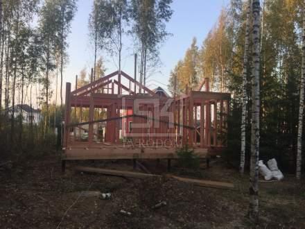 Строительство каркасной Бани в Киссолово по индивидуальному проекту.