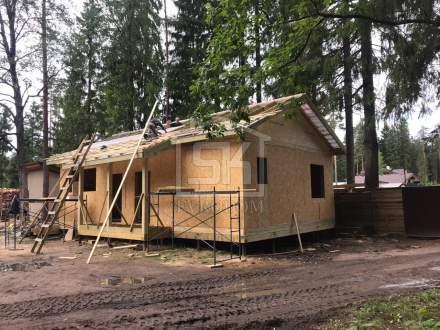 Строительство первого дома из СИП панелей в п. Рощино