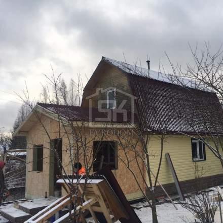 Строительство пристройки из СИП панелей в п. Вырица Ленинградской области