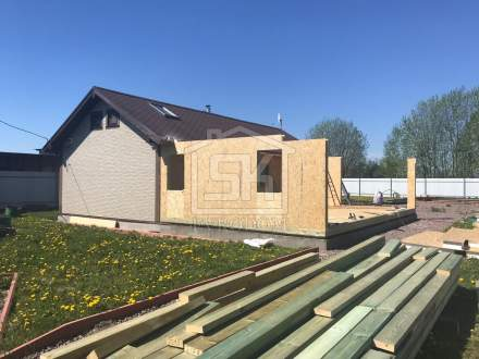 Строительство пристройки к дому из СИП панелей в д.Сергелево