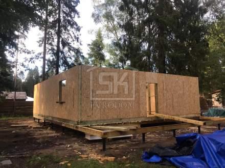 Строительство второго дома из СИП панелей в п. Рощино