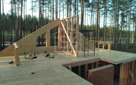 Строительство загородного дома из СИП панелей  КП Финский Бриз