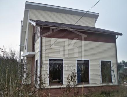 Строительство загородного дома из СИП панелей по проекту Рейн (Волосовский р-н.)