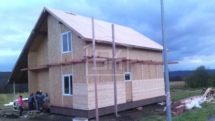 Внешняя отделка дома из СИП панелей блок-хаусом