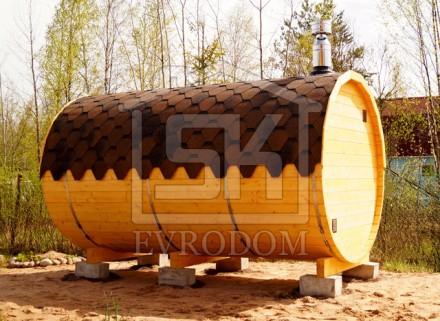 16.11.2015 г. Отгружена и установлена Баня- Баня-бочка 3,5 м. в п. Лукаши Ленинградской области