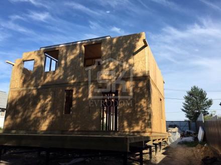 12.07.2016 г. Завершён монтаж второго этажа дома из СИП панелей по индивидуальному проекту  п.Озерки.