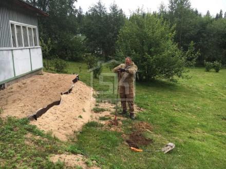 21.07 2016 г. Произведено пробное бурение и взят анализ грунта в п. Гаврилово Выборского района.