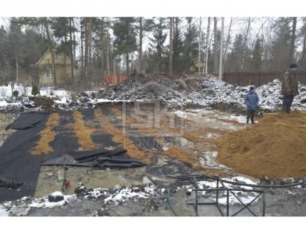 "Начаты работы по строительству фундамента монолитна плита ДНП ""ДУБКИ""."