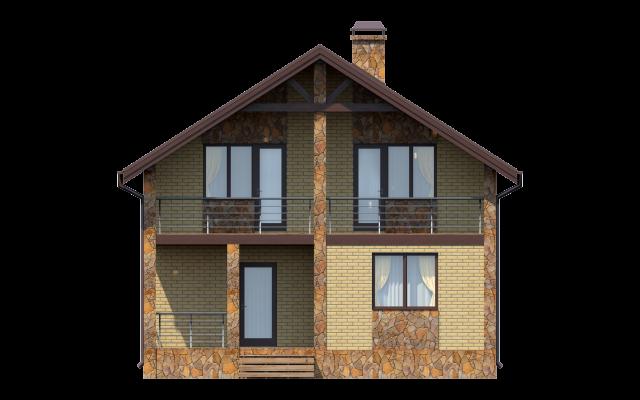 Проект дома из СИП панелей КАСИМОВО