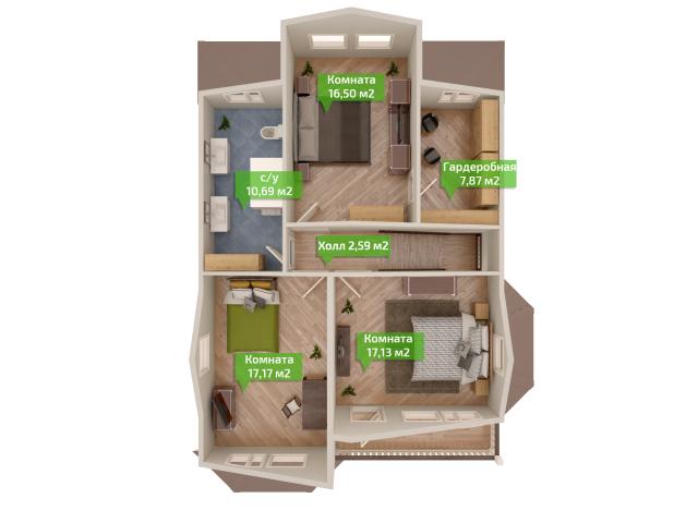 План второго этажа
