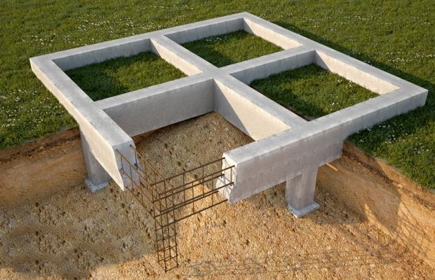 Строительство, устройство, возведение фундамента