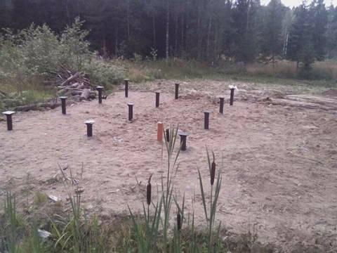 Установка свайно-винтового фундамента