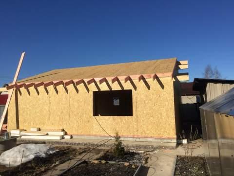Строительство дома из СИП панелей по индивидуальному проекту в СНТ «Форносово»