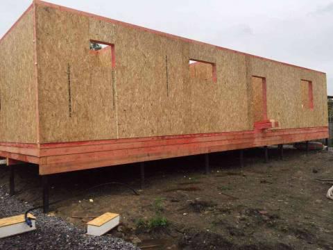Строительство дома из СИП панелей по индивидуальному проекту в Усть - Ижоре  Ленинградской области
